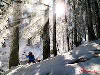 Rila winter scenery