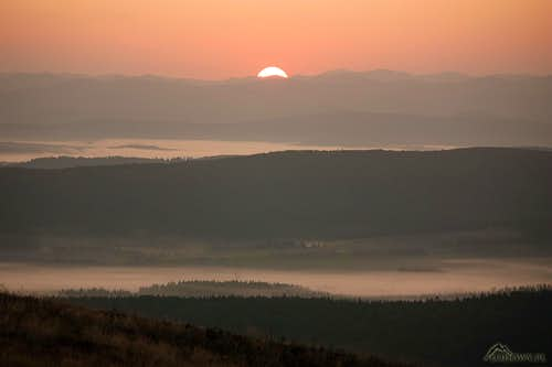 Rising Sun over Upper San valley