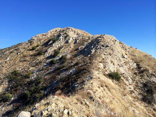 Follow this ridge up towards Mt. Lukens
