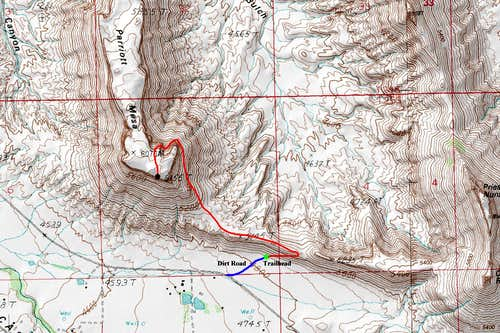 Parriott Mesa Map