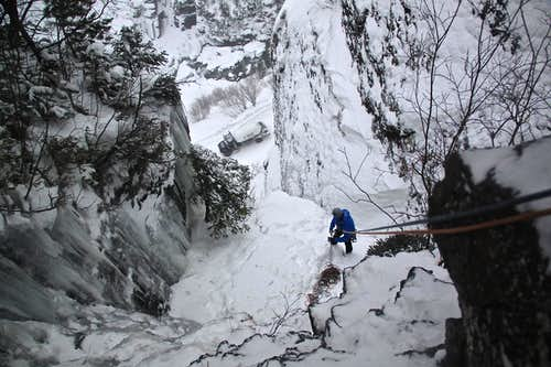 Rappel from Slip Slidin