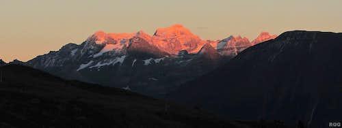 Alpenglow on Scherbadung aka Pizzo Cervandone (3210m)