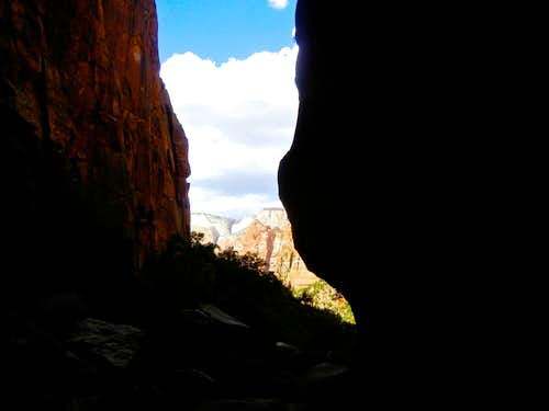 View from Pine Creek Canyon, Zion NP