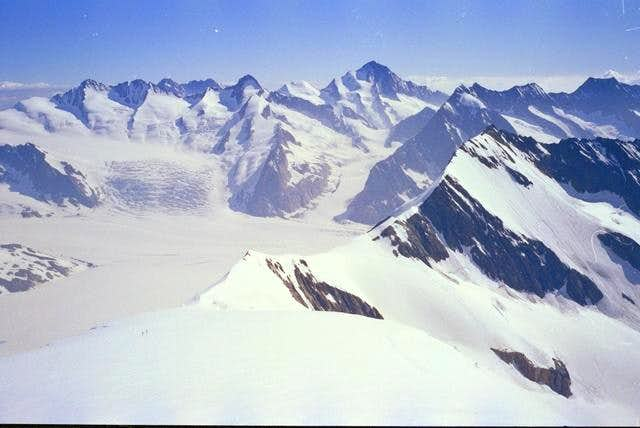 View from top with ski route...