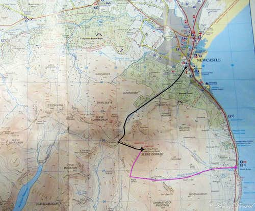 Route Map Slieve Donard