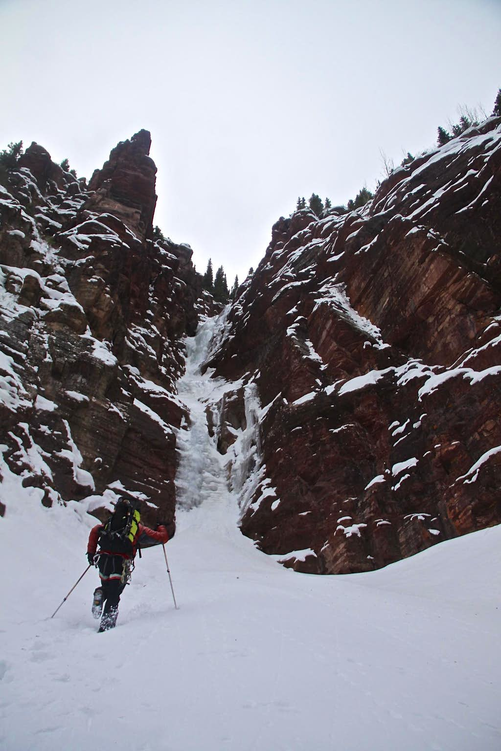 Approach to Campground Couloir