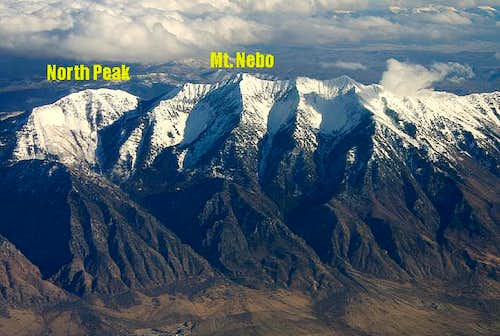 West faces of North Peak and...