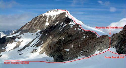 Beta of Piz Tschierva East ridge