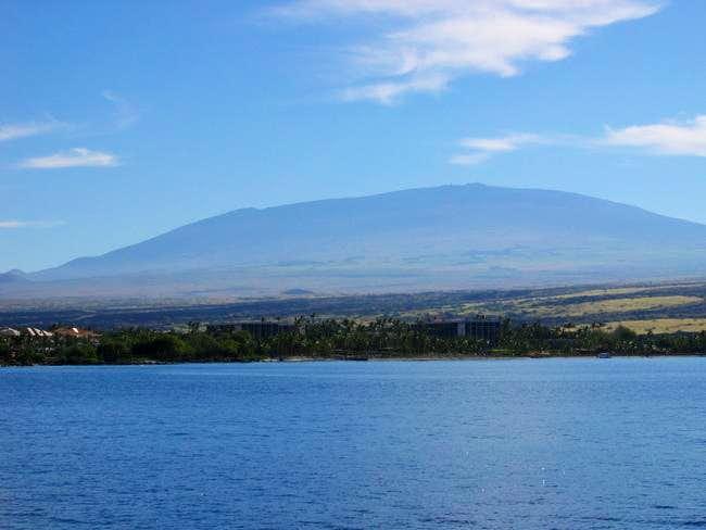 Mauna Kea from Waikoloa Bay....