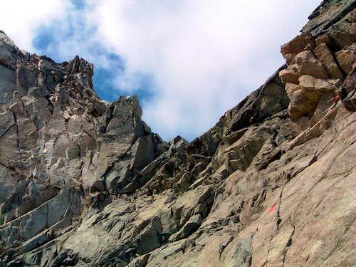 Rocky steps below Fuorcla Boval