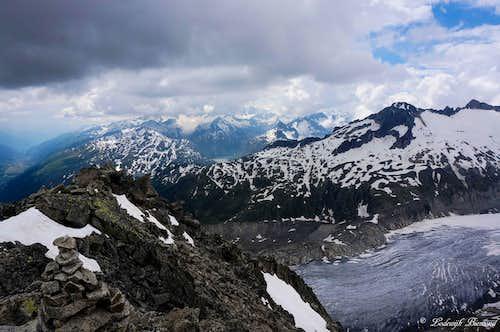 Furkahorn and Rhone Glacier
