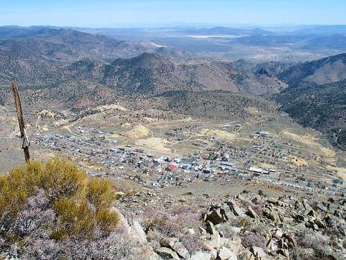 Looking down on Virginia City...