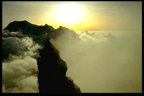Dent du Geant lower summit...