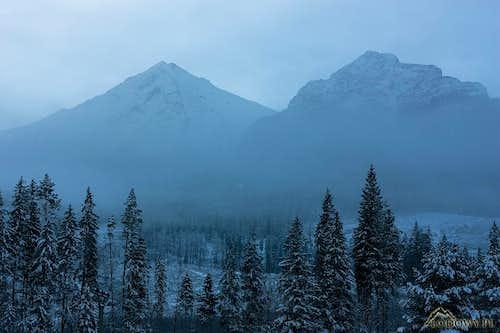 Misty dawn in White Tatras