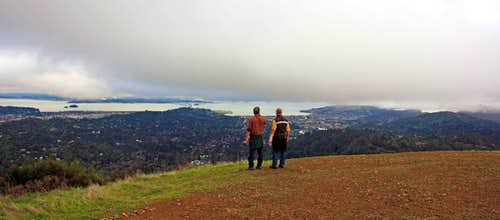 Hikers on Bald Hill