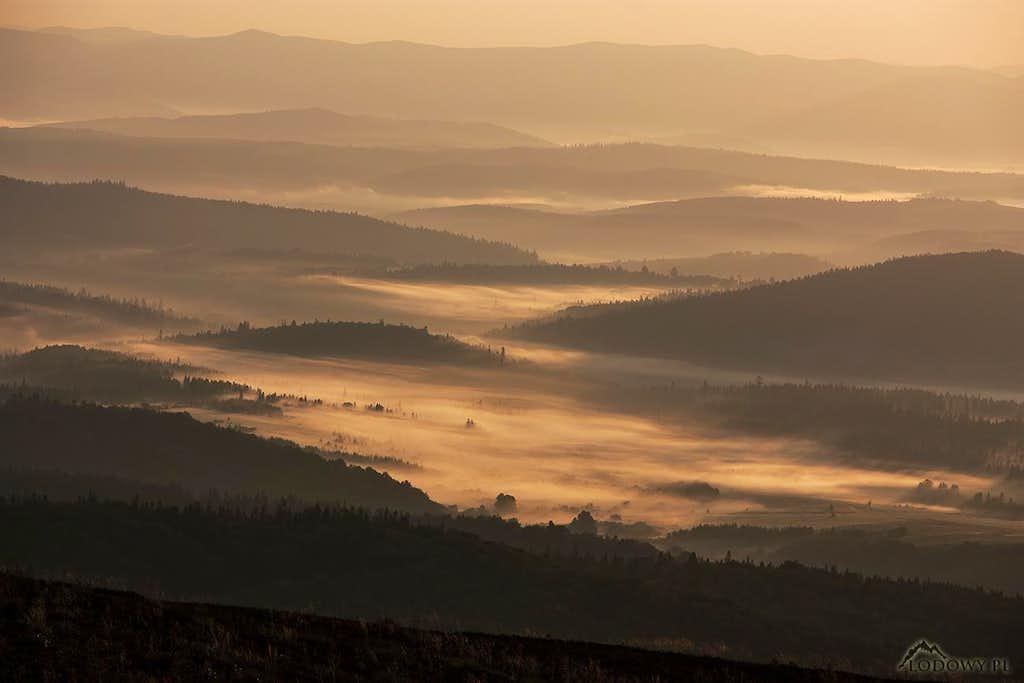 Upper San valley at sunrise