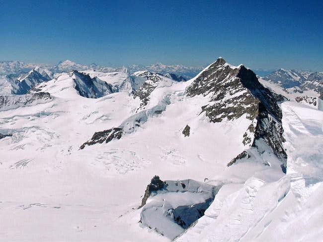 Jungfrau from summit of Monch