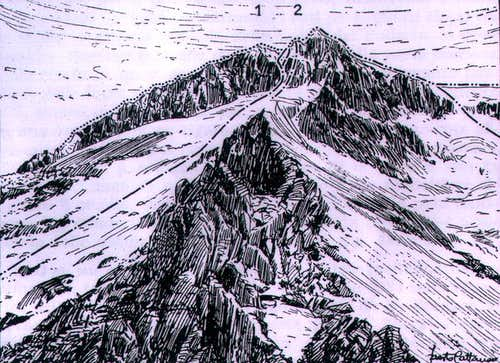 The East face of Monte Carè...