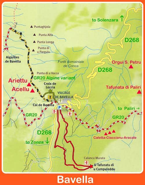 Punta Caletta map