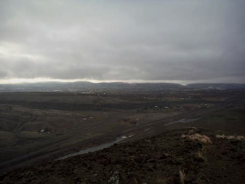 Looking down at the Yakima River