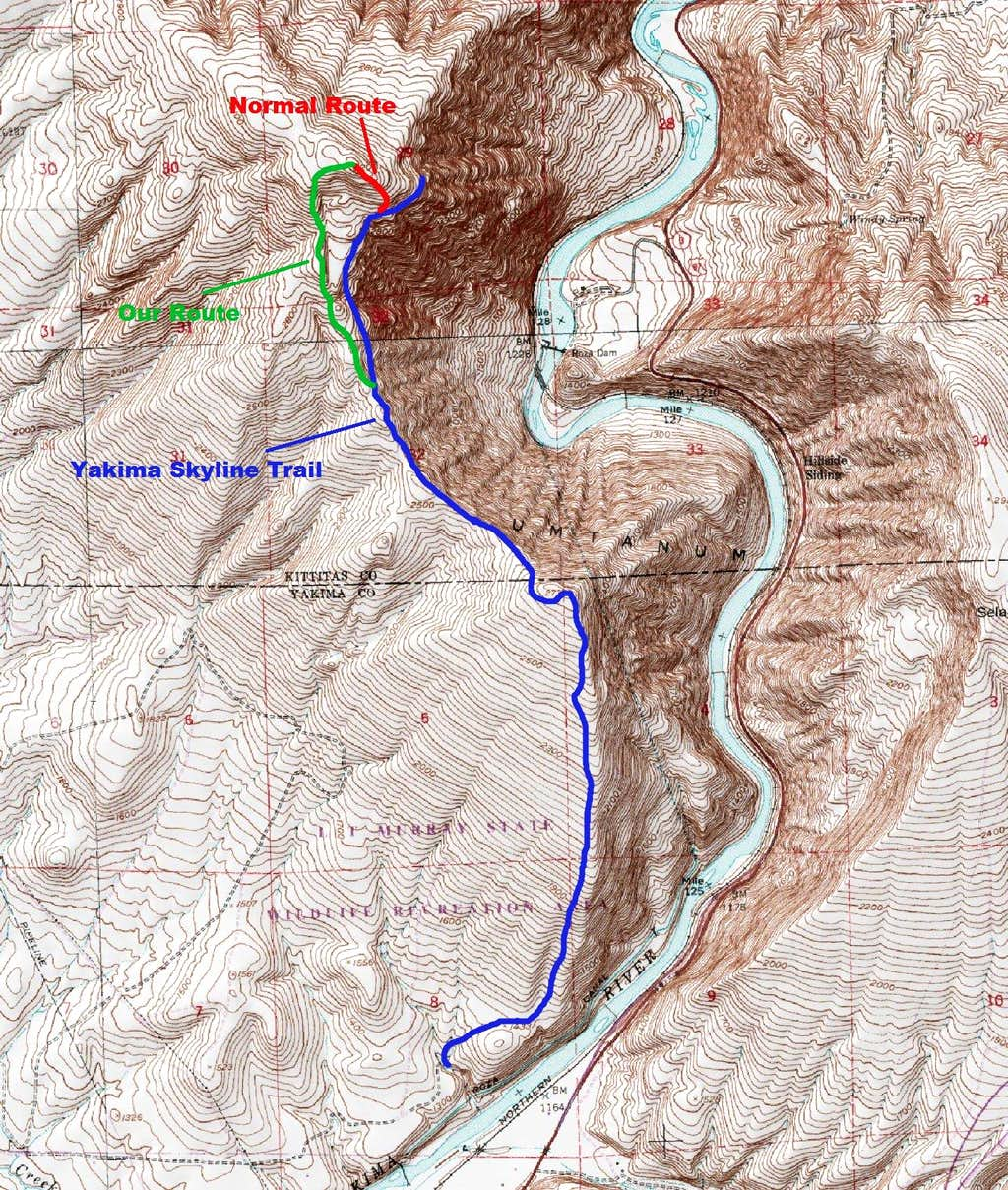 Gracie Point Route Map