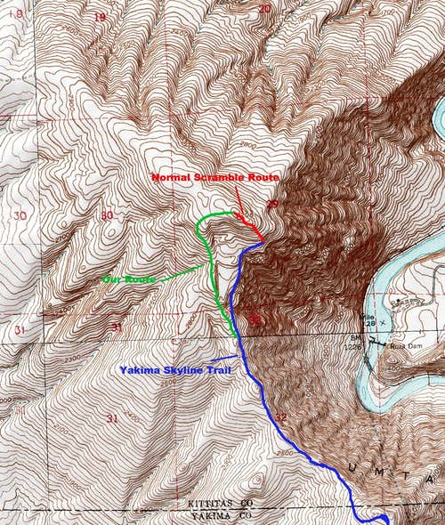 Gracie Point Route Close Up