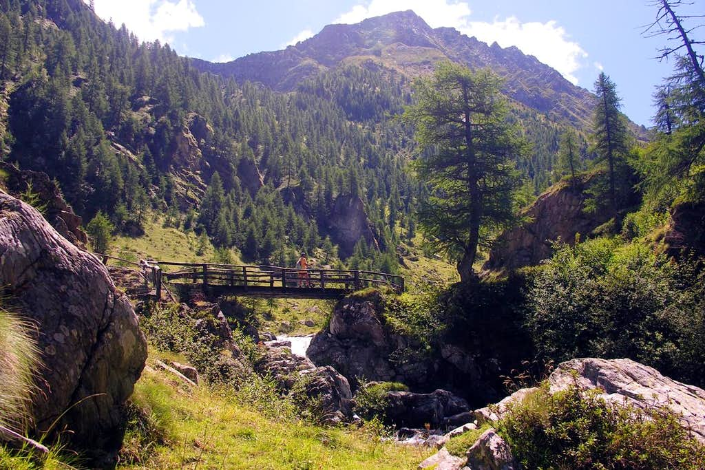 Punta di Chenessy Going into Legna's Vallon 2005