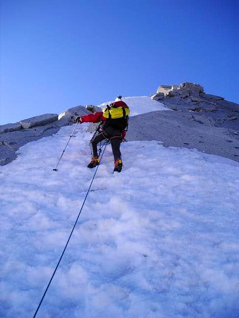 On the North West ridge of...