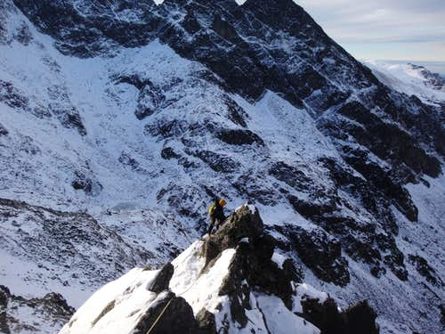 Climbing on the Filar Staszla