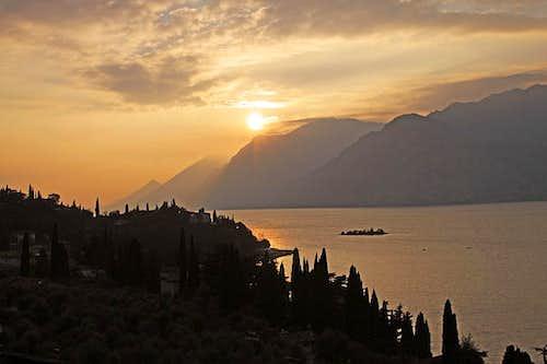 Evening on Garda lake