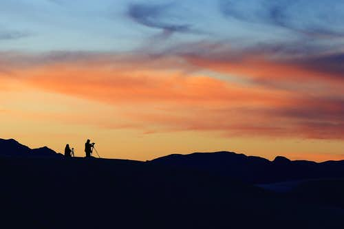 Photographing the Sunset at White Sands National Monument
