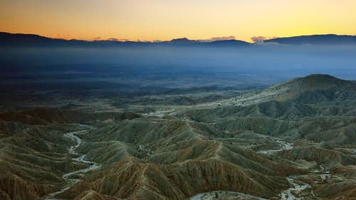 Sunset from Font's Point, Anza Borrego Desert State Park