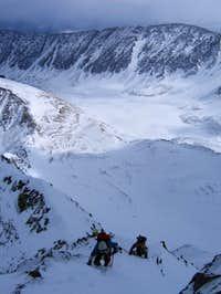 Ascending the upper Kelso...