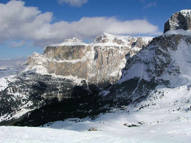 Piz Ciavazes from south, from...
