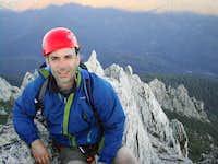 Damon Vrabel on summit of The...