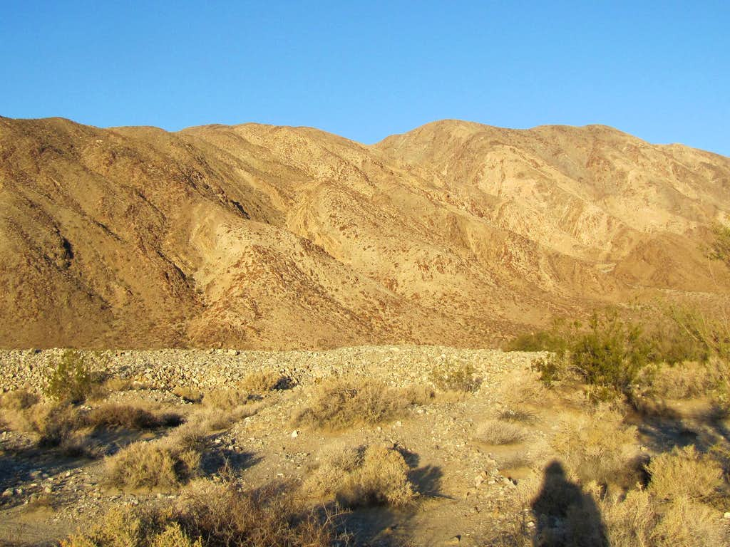 Eastern slopes of Coyote Mountain