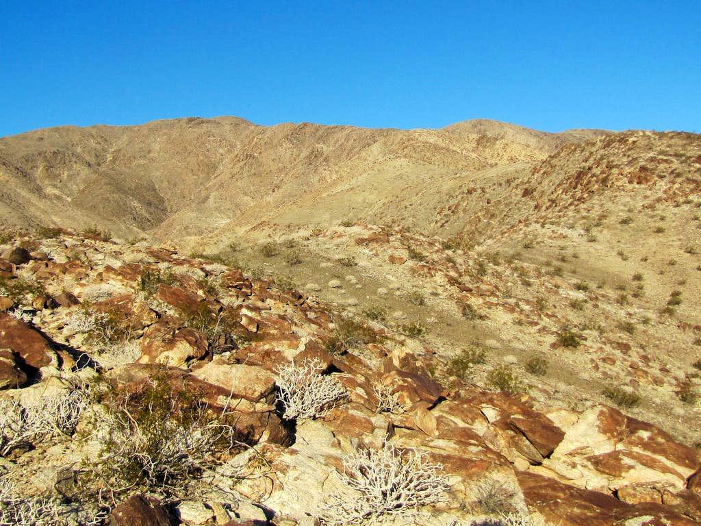 Following the ridgeline to the summit