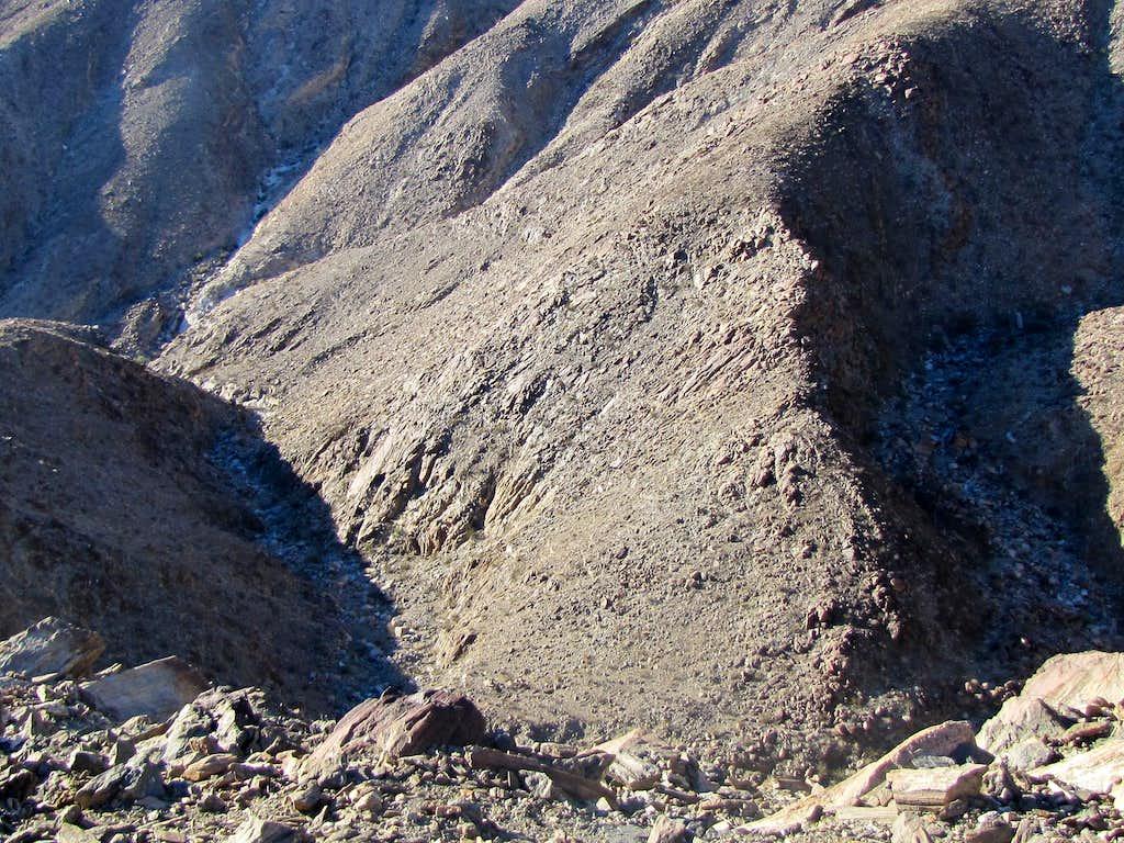 Canyon below the southeastern ridgeline