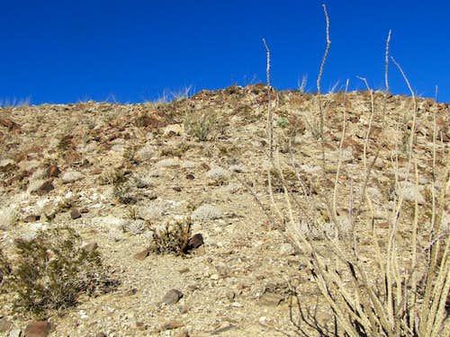 On the southeastern ridgeline