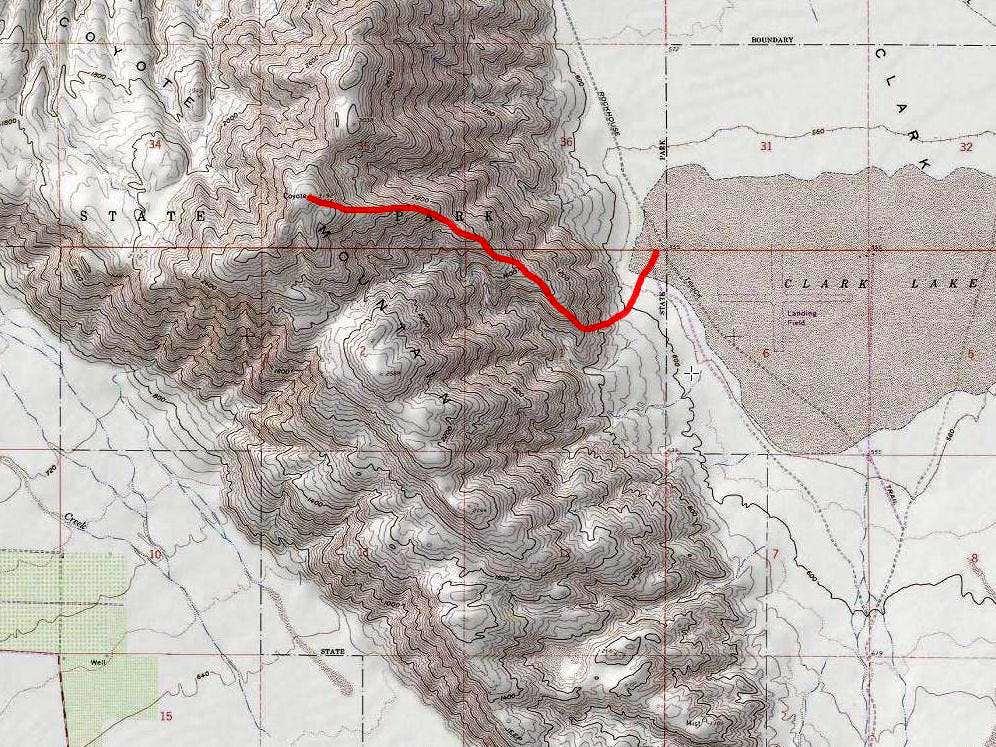 Southeastern ridgeline