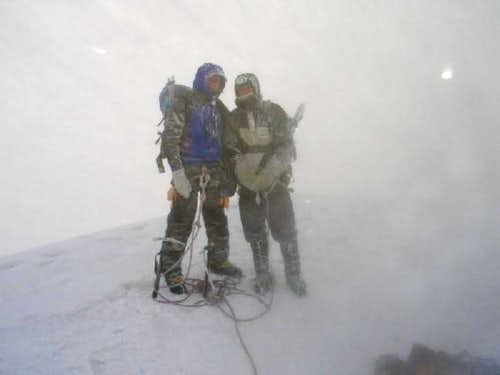 Summit of Cotopaxi at the...