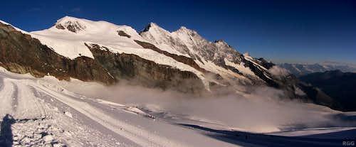 Mischabel ridge panorama