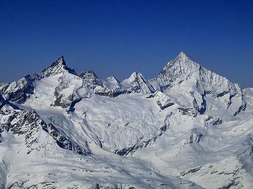 The Zinalrothorn (left) and...
