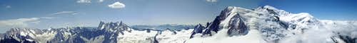 Panoramic View of Mont Blanc