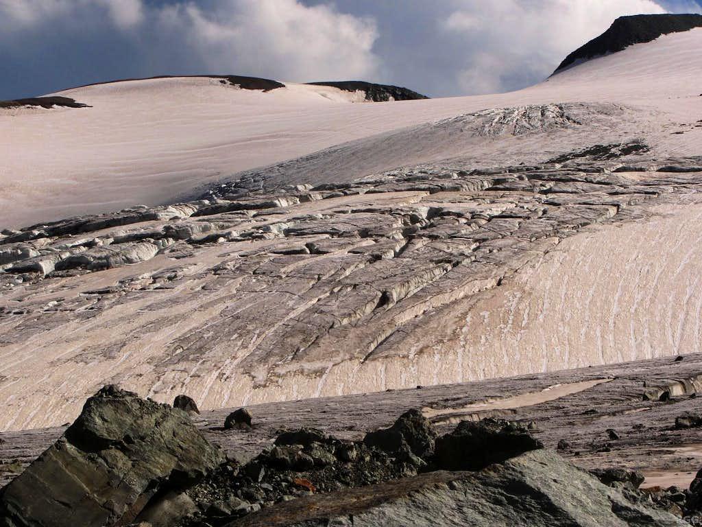 Crevasse field on the Allalin Glacier