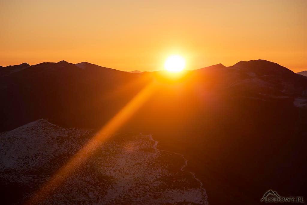 Rising Sun over Mount Tarnica