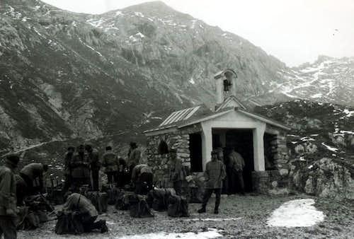 A Long Journey Chapel near Laghi d'Olbe Refuge 1968