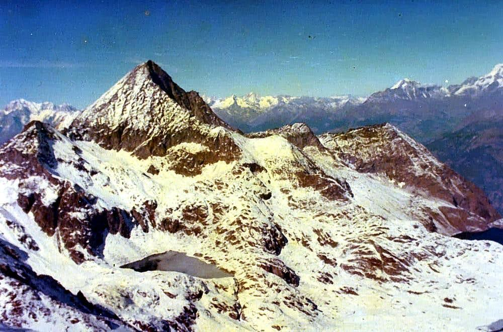 All Frozen M. Emilius in Autumn from P. di Leppe 1978