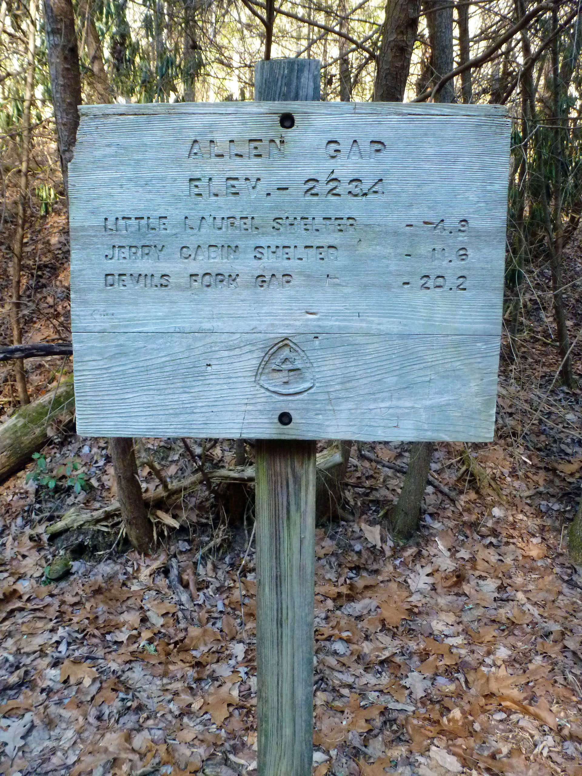 Appalachian Trail from Allen Gap