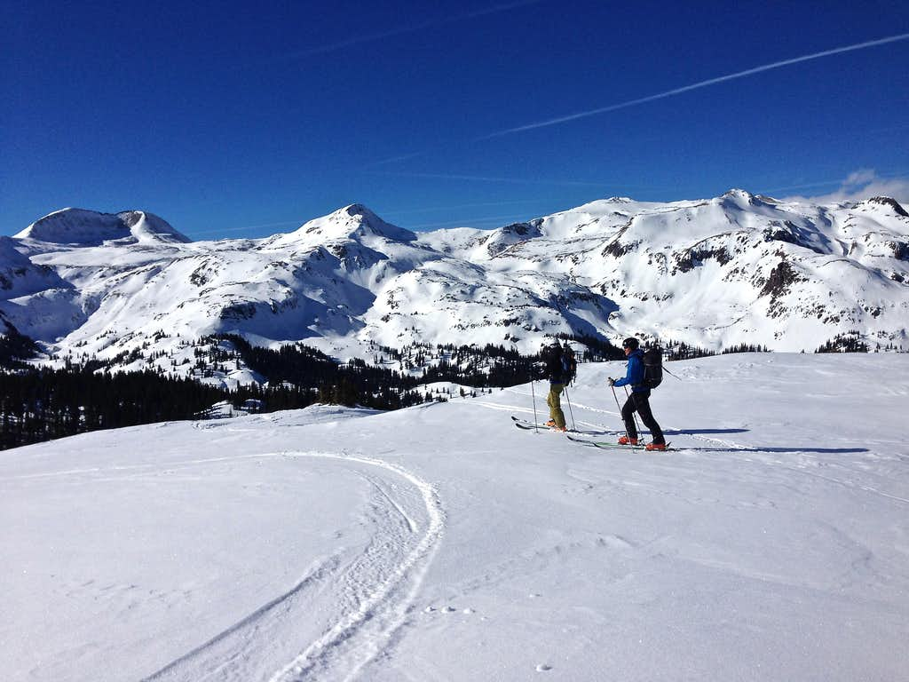 Skiing below Red Mountain #3